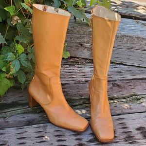 🥀Vintage ANTONIO MELANI Square Toe Boots 8.5 EUC